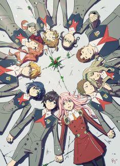 Hawks Discover Darling in the Franxx Anime: Darling in the Franxx_Personajes: Zero Kokoro y Manga Anime, Otaku Anime, Querida No Franxx, Sketch Style, Zero Two, Anime Kunst, Cute Anime Wallpaper, Darling In The Franxx, Kokoro