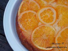 Reteta culinara Prajitura rasturnata cu portocale din categoriile Dulciuri diverse, Prajituri. Cu specific romanesc.. Cum sa faci Prajitura rasturnata cu portocale Grapefruit, Macarons, Love Food, Deserts, Cooking Recipes, Sweets, Orange, Cake, Gummi Candy