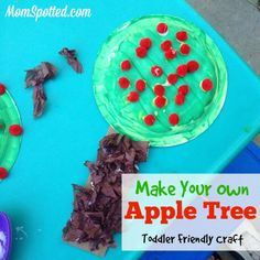 Make Your Own Apple Trees {Toddler Friendly #Craft}