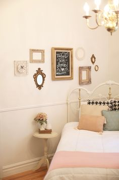 Guest room: welcome to our home, the wifi password chalkboard