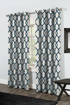 Amalgamated Textiles USA Kochi Curtain Panels | AllModern - teal or grey.