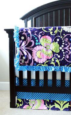 Custom baby bedding  Purple by GiggleSixBaby on Etsy,