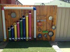 58 Super Ideas for diy kids outdoor playground music wall Natural Playground, Outdoor Playground, Playground Ideas, Children Playground, Outdoor Play Spaces, Outdoor Fun, Outdoor Games, Reggio Emilia, Do It Yourself Garten