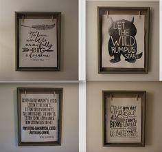 Storybook Nursery Artwork - Literature Quotes