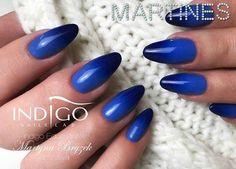 Ombre Gel Brush Aladdin Lamp and Arte brillante Bella Armata by Martyna Bryzek, Indigo Educator #nails #nail #ombre #ombrenail #indigo #indigonails #blue #navy #sexy #winternail