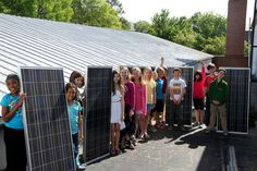 4th graders 'flip the switch' on solar powered classroom