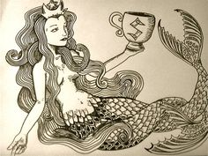 Starbucks Two Tailed Mermaid by ~ROARcass44 on deviantART
