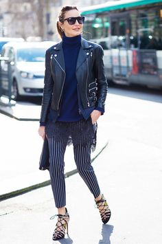 Outfit Ideas to Bring Your Leather Jacket Back to Life via @WhoWhatWearUK