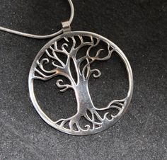 Tree of Life Handmade Silver Pendant by opalwing on Etsy