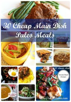 30 Cheap Main Dish Paleo Meals | www.thepaleomama.com