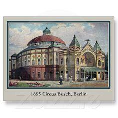 Vintage Berlin Circus Busch building Post Card