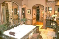 Chateau Melliant House Plan Luxurious Master Bath