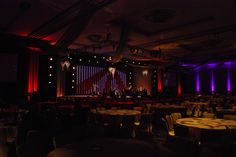 The stage at the IBEW 100th Anniversary Gala in the Portland Ballroom