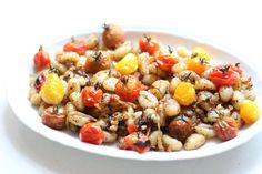 Mediterranean Gnocchi with grilled cherry tomatoes