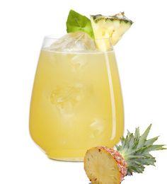 Veracruzana cocktail - perfect blend of pineapple, basil and tequila.  Ole!  Get the recipe  http://thegardeningcook.com/veracruzana-cocktail/