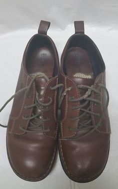Womens Born Brown Leather Casual Lace Up Shoes Size 10 / 42 EUC Great Condition #Brn #LaceUpCasual #Casual