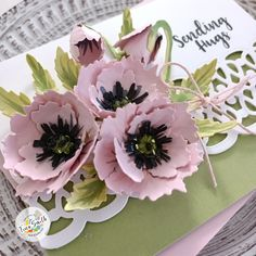 Poppy Cards, Flower Crafts, Coffee Time, Cardmaking, Poppies, Oriental, Autumn, Crafty, 3d