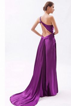 Classic Purple Chiffon Formal Gowns - Order Link: http://www.theweddingdresses.com/classic-purple-chiffon-formal-gowns-twdn1906.html - Embellishments: Beading , Ruched , Sequin , ; Length: Sweep/Brush Train; Fabric: Chiffon; Waist: Natural - Price: 144.16USD
