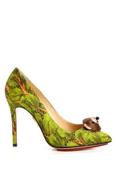 Shop Bear Necessities Printed Pump by Charlotte Olympia Now Available on Moda Operandi