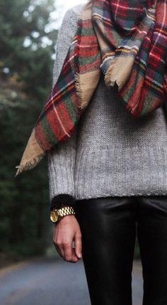 #street #style / knit + scarf