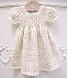 Organic Hand-Knit Smock Dress - so cute for a baby girl <3