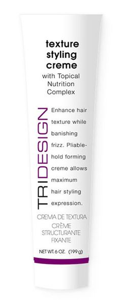 Texture Styling Creme - pliable forming creme. Enhances texture and banishes frizz. Rinses easily out of the hair.