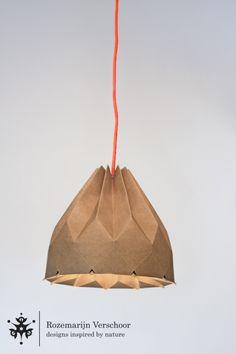 Origami lampenkap starlight recycled papier neon