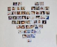 Dit zijn heel veel foto's die de vorm van een hart maken