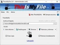 Un programa pequeño y efectivo para desbloquear y/o eliminar archivos bloqueados o protegidos en Windows. Este es una herramienta muy agresiva que, sin peros, priva a los archivos abiertos afectados del programa apropiado y realiza la acción requerida. Windows Xp, Software Libre, Filing Cabinets