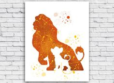 The Lion King watercolor printable digital download to print at home.  This is a digital file and no physical item will be shipped  Size 8x10 (20.3 x 25.4 cm)  16x20(40.6 x 50.8 cm)  (preview image above is only a much smaller preview of actual file)  BUY 2 AND GET 1 FREE! CODE: 1FREE (ADD ALL 3 PRINT TO CART BEFORE APPLYING CODE)  BUY 3 AND GET 2 FREE! CODE: 2FREE (ADD ALL 5 PRINT TO CART BEFORE APPLYING CODE)  After payment you will redirected to the download page. Click 'Download', save…