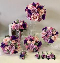 Purple Wedding Bouquets, Floral Wreath, Wreaths, Flowers, Decor, Floral Crown, Decoration, Door Wreaths, Deco Mesh Wreaths