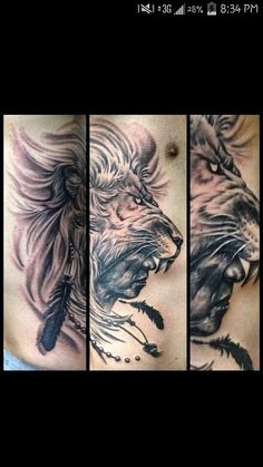 Lion Indian tattoo