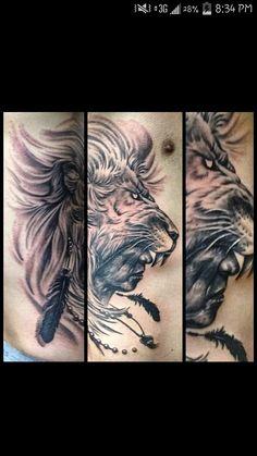 Lion Indian tattoo