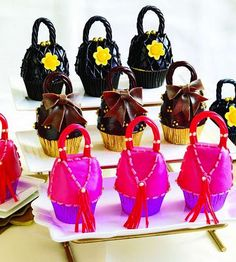 purse cupcakes to go along with the High Heel cupcakes!