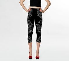Skull Web:  yoga leggings, yoga pants, printed leggings, women's clothing, women's leggings, spandex sports