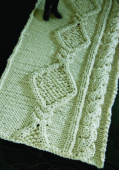 Aran Rug, designed and knitted by Christien Meindertsma. The scale of it! The fun of it!