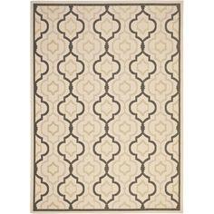 Safavieh Indoor/ Outdoor Courtyard Beige/ Black Rug (8' x 11') | Overstock.com Shopping - Great Deals on Safavieh 7x9 - 10x14 Rugs $162