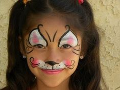 Face painting examples are very useful in the art of face painting. One of the greatest things about face painting examples, is that there are many reference Face Painting For Boys, Face Painting Designs, Bunny Face Paint, Face Paint Makeup, Kids Makeup, Make Up Art, Cat Face, Face Art, Face And Body