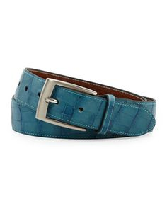 Faux-Croc Leather Belt, Ceramic by Peter Millar at Neiman Marcus Last Call.