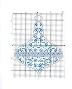 Mixed Blackwork and X-stitch Xmas ornament chart 1