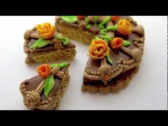 TINY Miniature Doll House Polymer Clay Cakes Amber Dawn FunFairCreations
