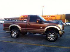 Ford Diesel Pickup Trucks For Sale | Regular cab short bed f350 king ranch h&s def delete