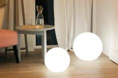 Globe lumineux blanc deco changement couleur LED