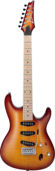 Ibanez SA130MFM Specs - neck type: SA 3pc Maple neck - body: Flamed Maple top/Mahogany body - fretboard: Maple fretboard w/Black dot inlay - fret: Jumbo frets - bridge: Std. tremolo bridge - neck pick