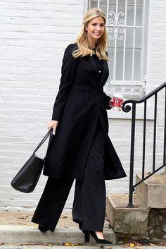 Ivanka Trump wearing Ivanka Trump Katie Pumps, Zara Faux Pearl Studded Top and Ivanka Trump Soho Solutions Work Tote
