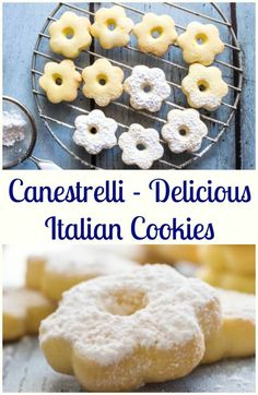 Canestrelli a wonderfully delicious Italian Cookie, an almost shortbread type cookie but with a crunch, fast and easy. The perfect afternoon tea cookie. Italian Cookie Recipes, Italian Cookies, Italian Desserts, Italian Dishes, Italian Foods, Tea Cookies, Biscuit Cookies, Yummy Cookies, Cupcake Cookies