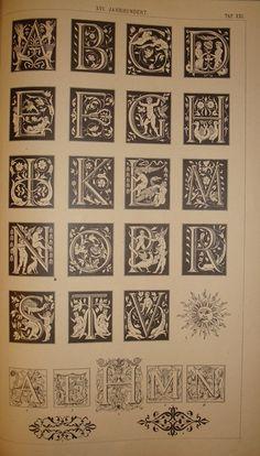 BIBLIOTYPES: Anton Niedling - Miniaturas y Alfabetos Ornamentales
