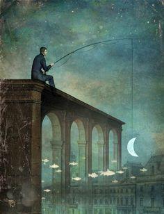 Christian Schloe - The River...moon art