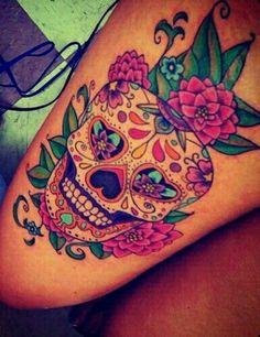 I really want a sugar skull tattoo!