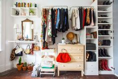 If you live in a city, you probably have an awkward closet. Either it's shallow, two inches away from your bed, or even worse, non-existent. The latter was my situation. When I moved into my Brooklyn apartment last year, I turned the living room into a bedroom, which meant plenty of wall space, but